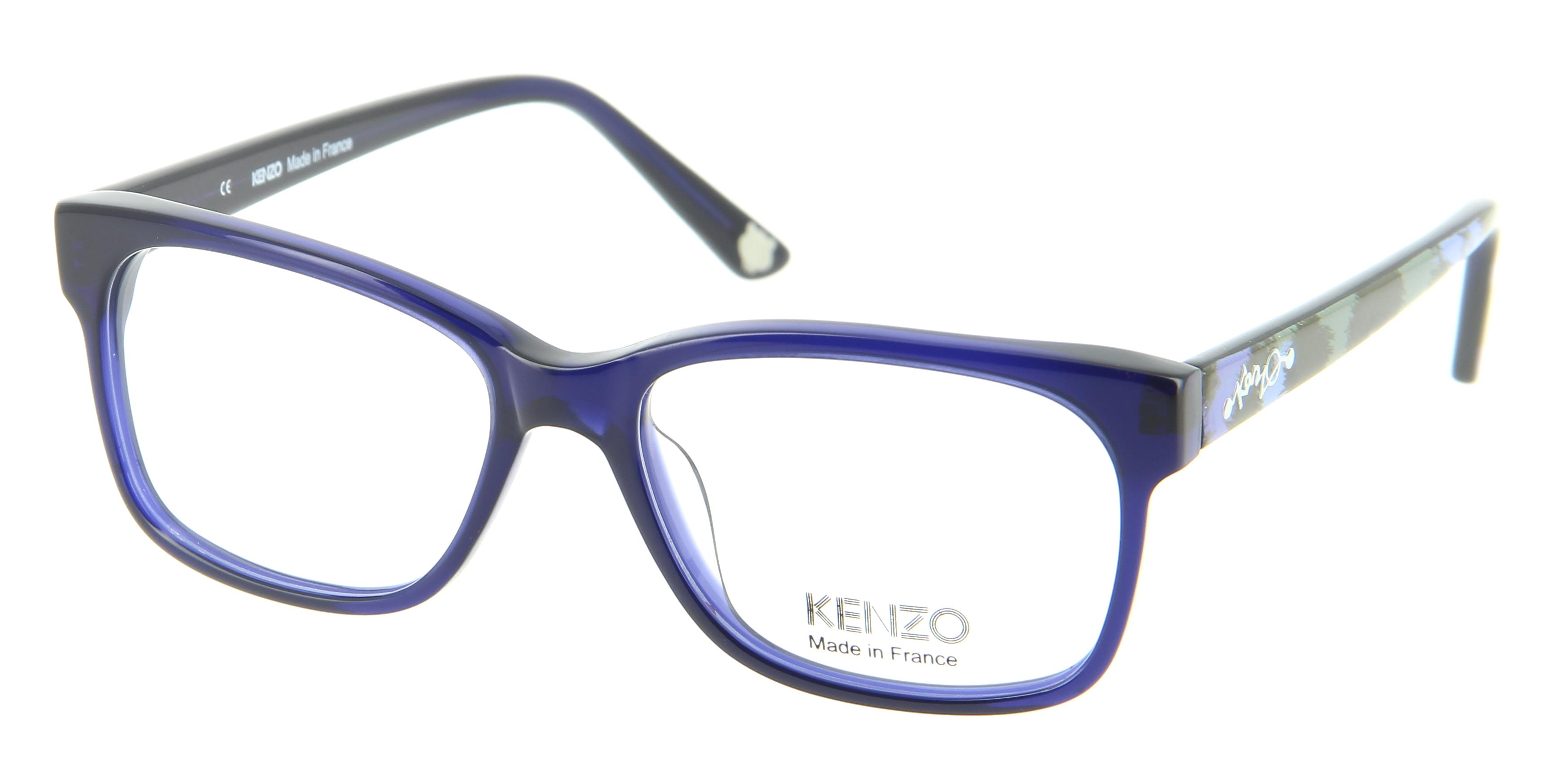 Kenzo Optical Glasses : Eyeglasses KENZO KZ 2218 C03 53/16 Woman bleu square ...