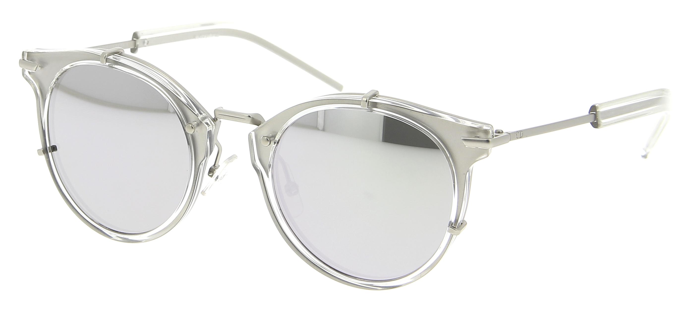 lunettes de soleil dior cd dior0196s jwi dc 48 22 homme argent transparent carr e cercl e. Black Bedroom Furniture Sets. Home Design Ideas