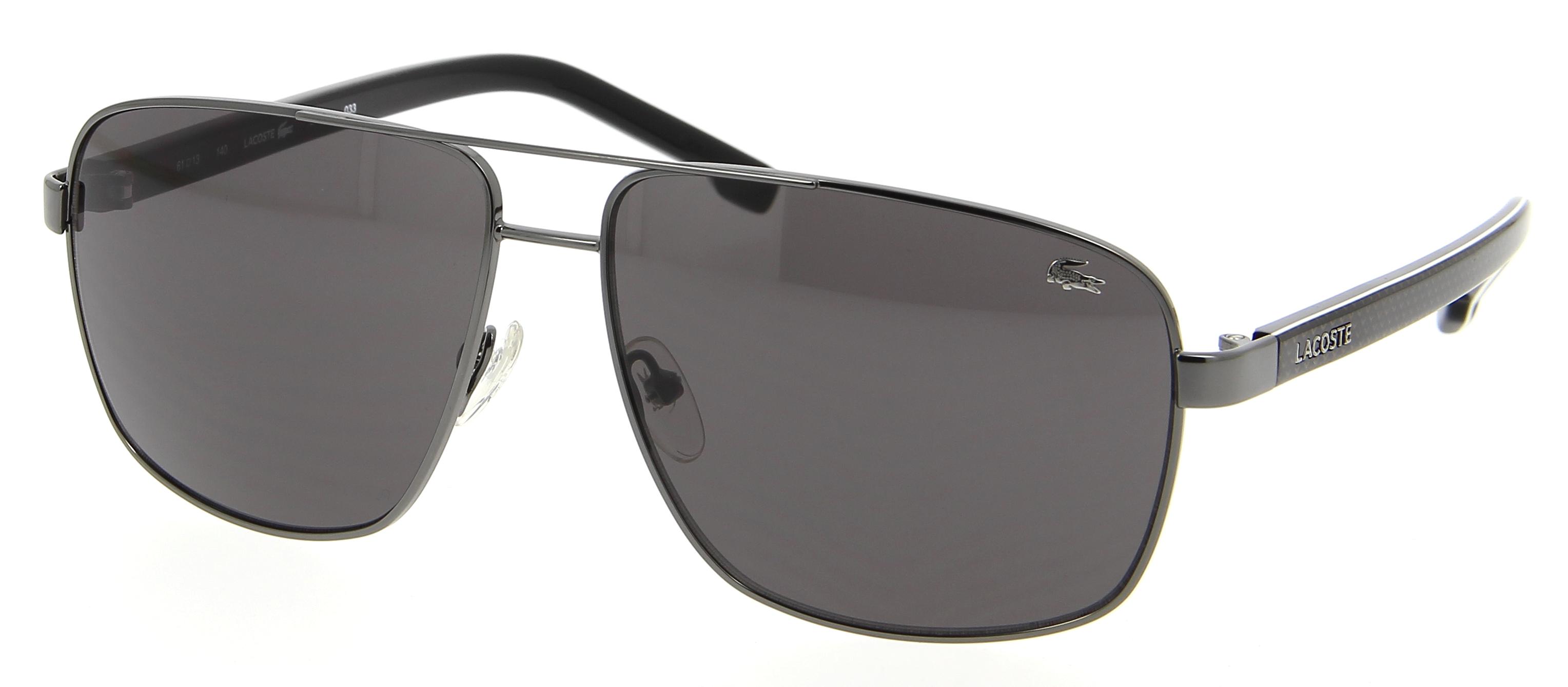 lunettes de soleil lacoste l 162s 033 61 13 homme noire rectangle cercl e classique 61mmx13mm 114. Black Bedroom Furniture Sets. Home Design Ideas