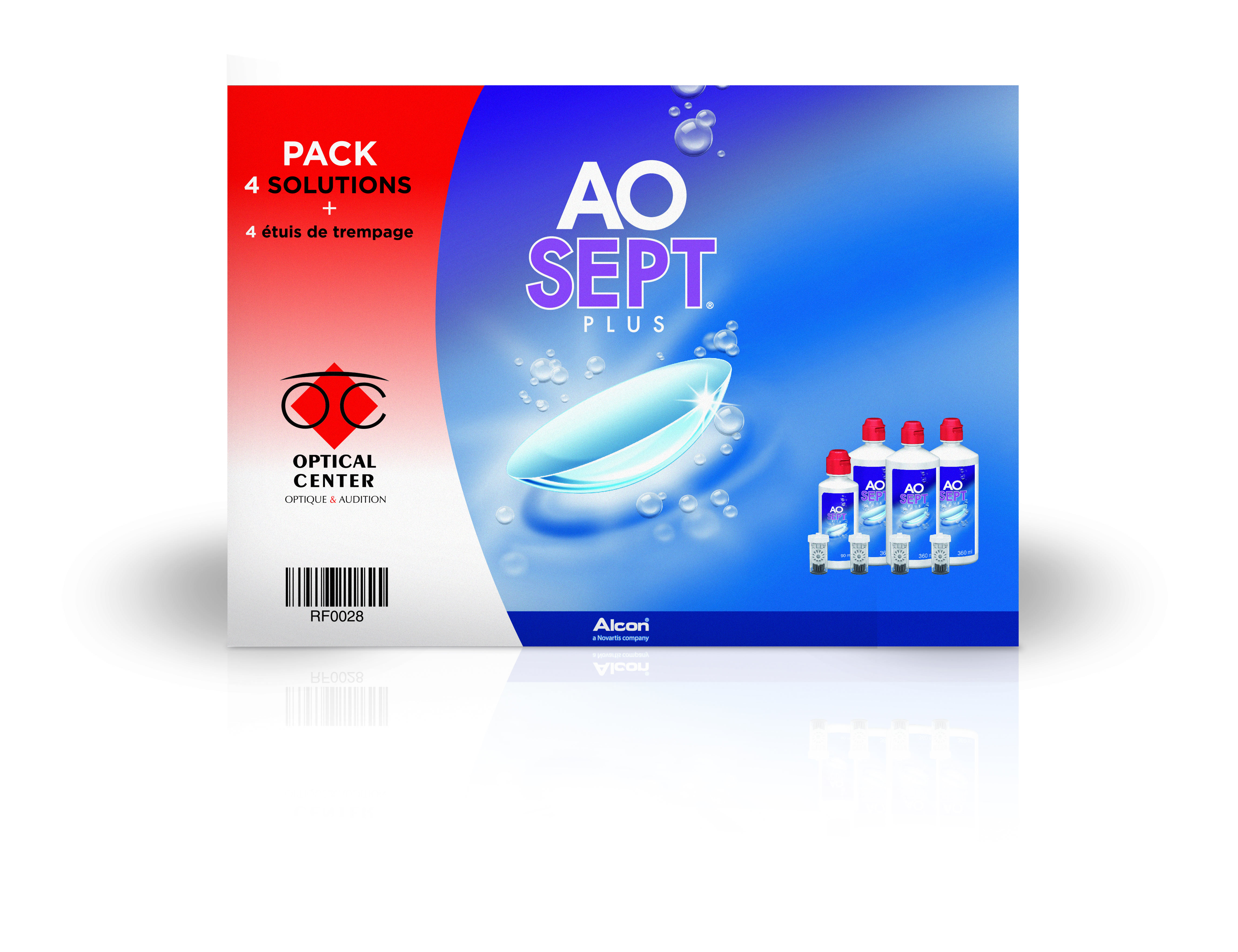 AOSEPT PLUS Coffret Eco 3 x 360 ml + 1 x 90ml