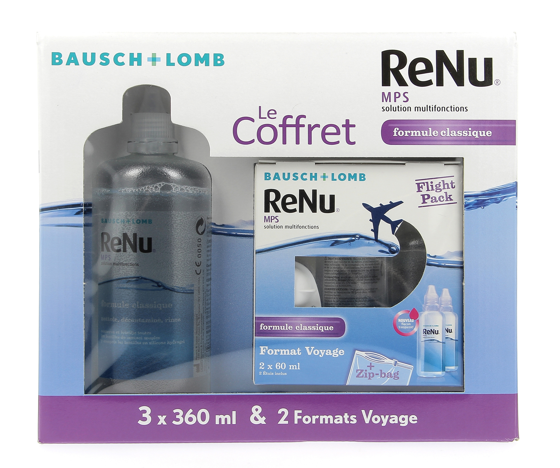 Le Coffret RENU 3*360ml + Flight pack 2*60ml