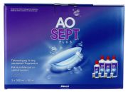Contact lenses easy-care-solutions ALCON AOSEPT PLUS Coffret Eco 3 x 360 ml + 1 x 90ml