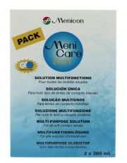 עדשות מגע תמיסות MENICON MENICARE SOFT 2x360ml