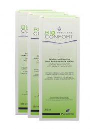 עדשות מגע תמיסות PRECILENS BIO CONFORT Pack 3x360ML