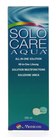 Contact lenses easy-care-solutions MENICON SOLOCARE AQUA 360 ml